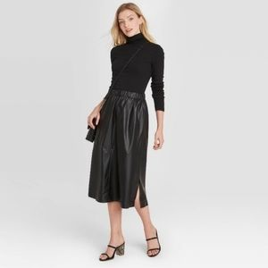 A New Day Women's A-Line Faux Leather Skirt